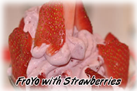 Frozen Yogurt with Strawberries