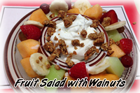 Fruit Salad with Walnuts