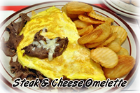 Steak & Cheese Omelette Special