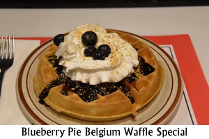 Blueberry Pie Belgium Waffle Special