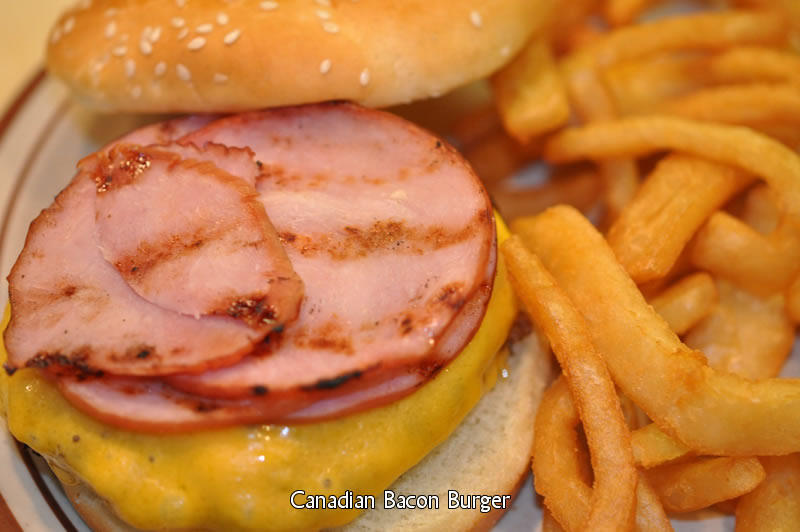 Canadian Bacon Burger