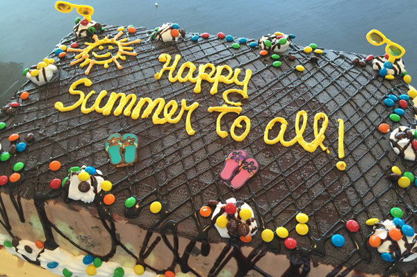 Summer Themed Ice Cream Cake.