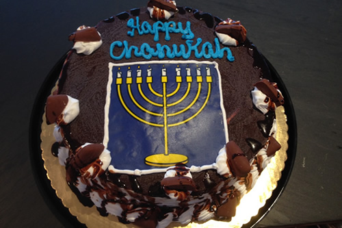 10 inch Custom Chanukah Ice Cream Cake