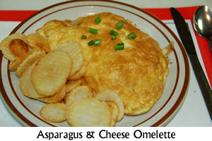 Asparagus and Cheese Omelette