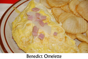 Eggs Benedict Omelette Special