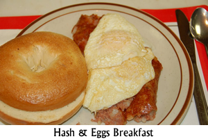 Eggs and Hash Breakfast