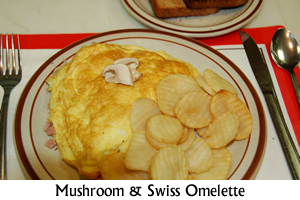 Mushroom and Swiss Cheese Omelette