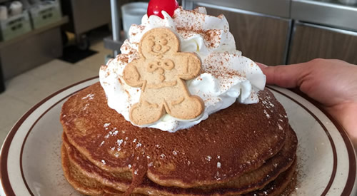 gingerbread pancakes at Cabot's