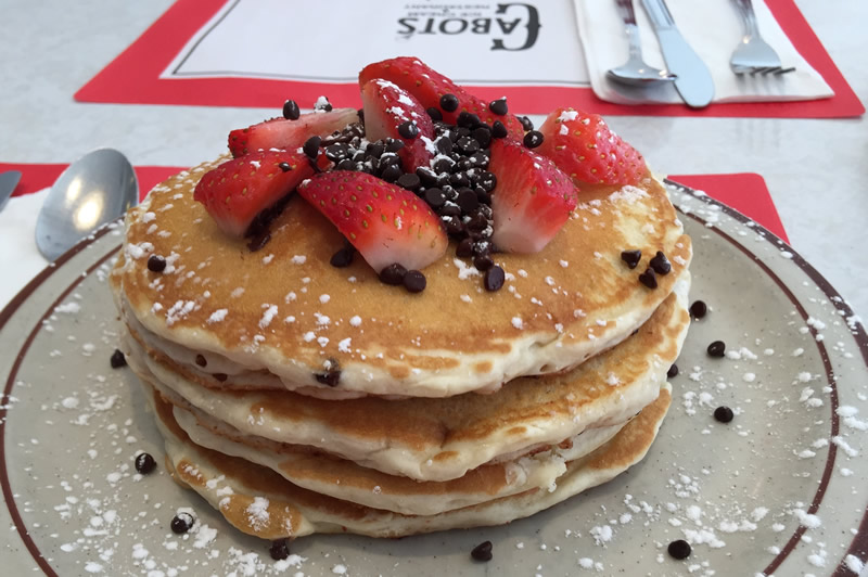 Strawberry Choc Chip Pancake Breakfast Special