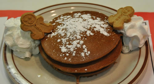 gingerbread pancakes loaf at Cabot's