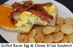 Grilled Bacon Egg & Cheese Breakfast Sandwich
