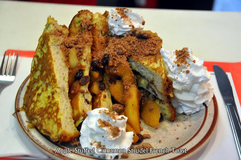 Apple Stuffed Cinnamon Strudel French Toast
