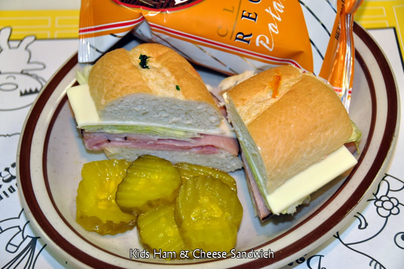 Kid's Ham and Cheese Sandwich