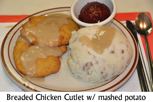 Breaded Chicken Cutlet with mashed potato