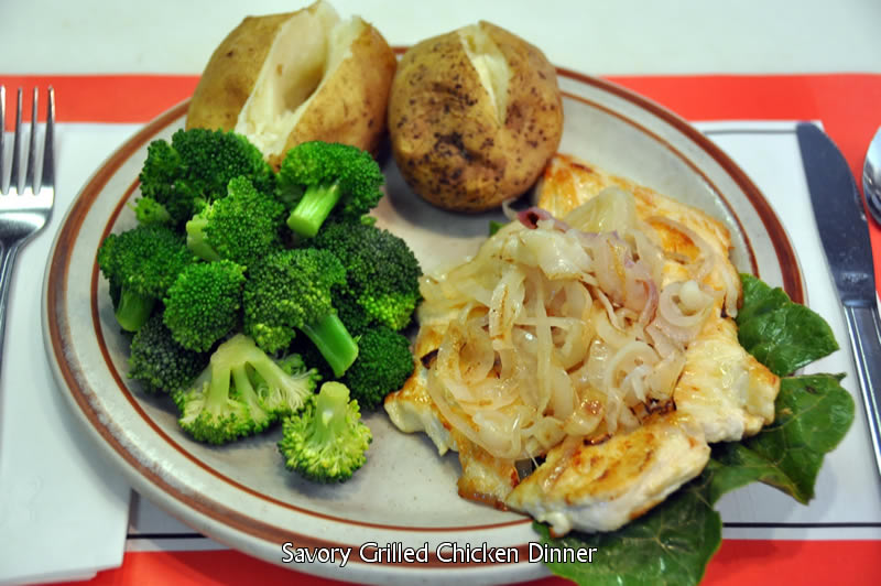 Savory Grilled Chicken Dinner