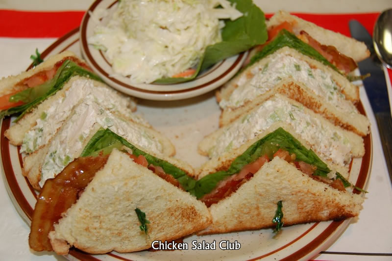 Chicken Salad Club Sandwich