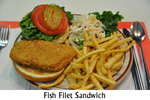 Seafood Fish Filet Sandwich