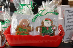 Gift Wrapped Holiday Gingerbread Man Cookies