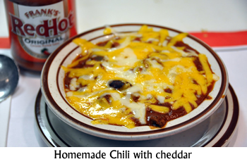 Homemade Chili with cheddar