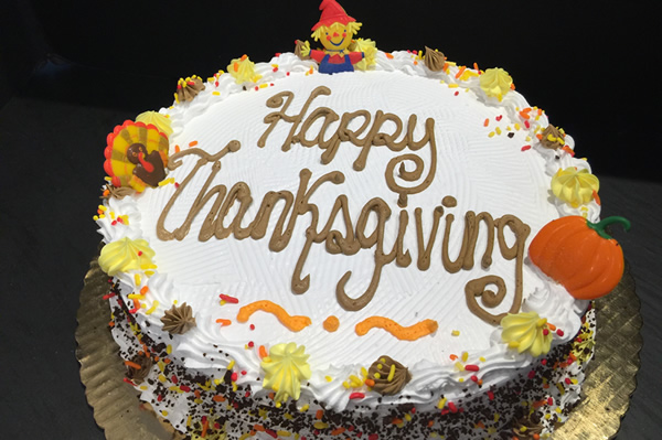Thanksgiving Themed Ice Cream Cake