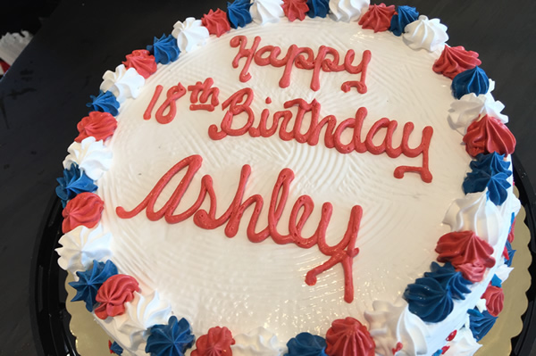 4th July Themed Ice Cream Cake.