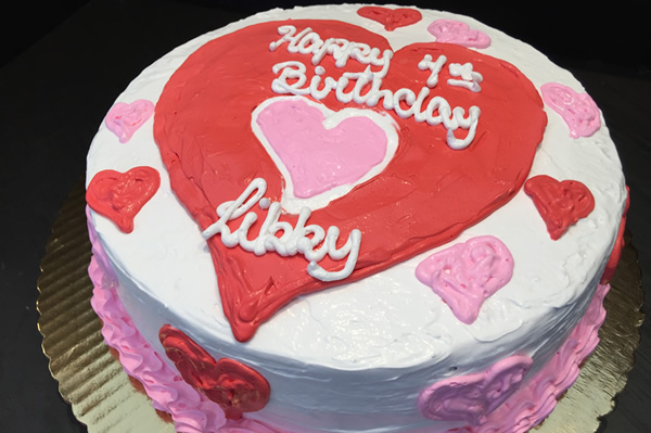 9 inch Valentine's Day Themed Birthday Ice Cream Cake.