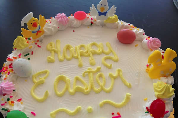 Easter Themed Ice Cream Cake.