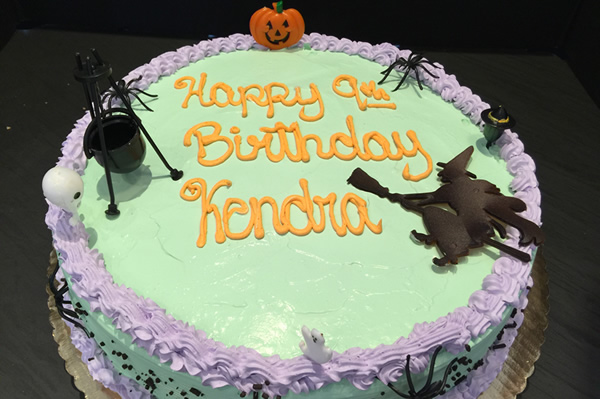 Halloween Themed Ice Cream Cake.