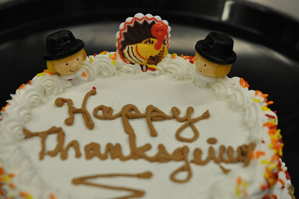 Thanksgiving Themed Ice Cream Cake.