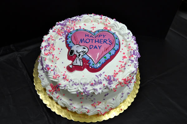 Mother's Day Themed Ice Cream Cake.