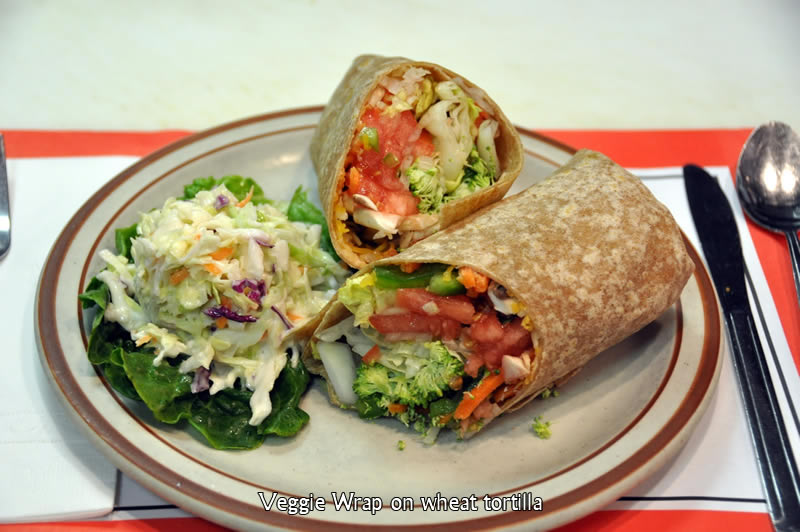 Veggie Wrap on Wheat Tortilla