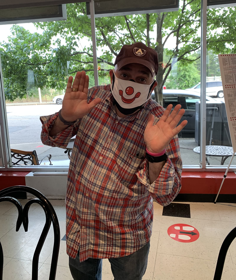 Shriners Clown visiting us