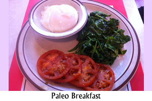 Paleo Poached Egg Breakfast.